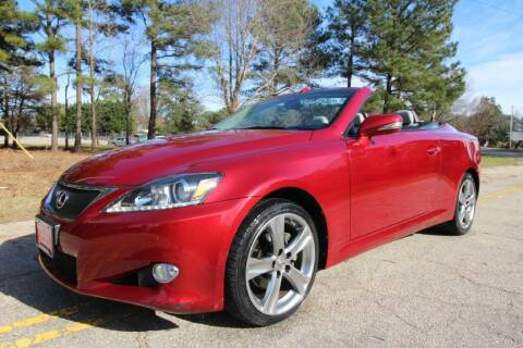 2012 Lexus IS 250C for sale at Oak City Motors in Garner NC