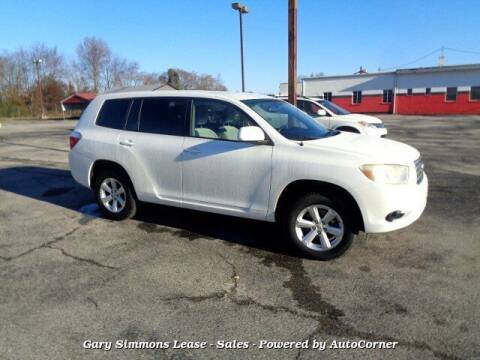 2008 Toyota Highlander for sale at Gary Simmons Lease - Sales in Mckenzie TN