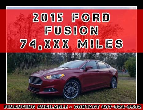 2015 Ford Fusion for sale at AFFORDABLE ONE LLC in Orlando FL