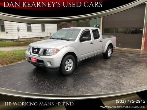 2013 Nissan Frontier for sale at DAN KEARNEY'S USED CARS in Center Rutland VT