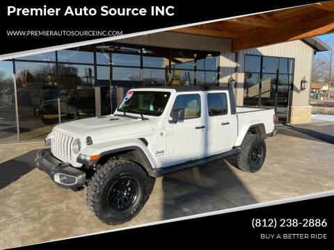 2020 Jeep Gladiator for sale at Premier Auto Source INC in Terre Haute IN