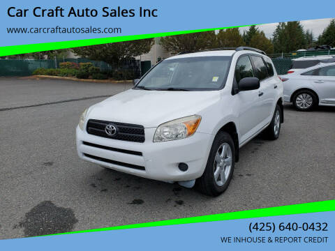 2007 Toyota RAV4 for sale at Car Craft Auto Sales Inc in Lynnwood WA