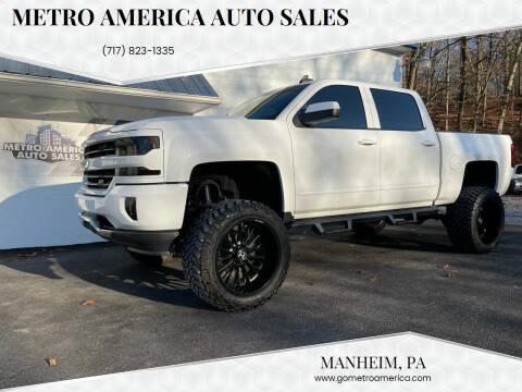 2018 Chevrolet Silverado 1500 for sale at METRO AMERICA AUTO SALES of Manheim in Manheim PA