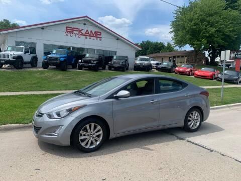 2015 Hyundai Elantra for sale at Efkamp Auto Sales LLC in Des Moines IA