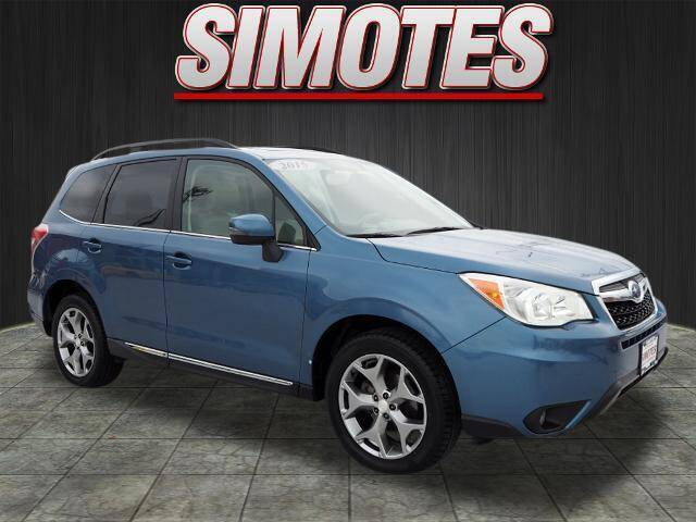 2015 Subaru Forester for sale at SIMOTES MOTORS in Minooka IL