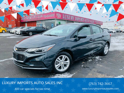 2018 Chevrolet Cruze for sale at LUXURY IMPORTS AUTO SALES INC in North Branch MN