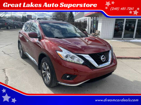 2016 Nissan Murano for sale at Great Lakes Auto Superstore in Pontiac MI