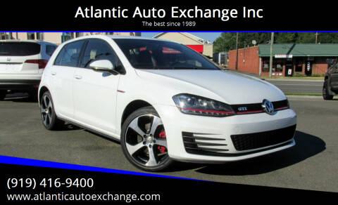 2016 Volkswagen Golf GTI for sale at Atlantic Auto Exchange Inc in Durham NC