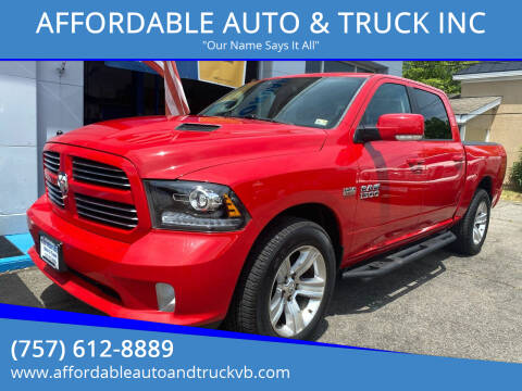 2013 RAM Ram Pickup 1500 for sale at AFFORDABLE AUTO & TRUCK INC in Virginia Beach VA