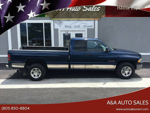 2001 Dodge Ram Pickup 2500 for sale at A&A Auto Sales in Orem UT