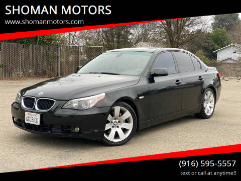 2006 BMW 5 Series for sale at SHOMAN MOTORS in Davis CA
