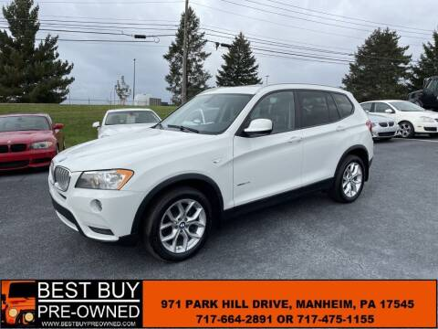 2013 BMW X3 for sale at Best Buy Pre-Owned in Manheim PA