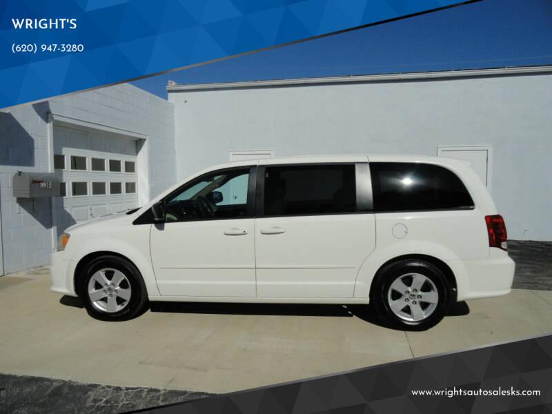2013 Dodge Grand Caravan for sale at WRIGHT'S in Hillsboro KS