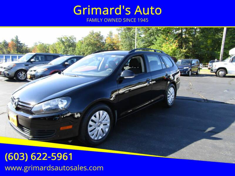 2013 Volkswagen Jetta for sale at Grimard's Auto in Hooksett NH