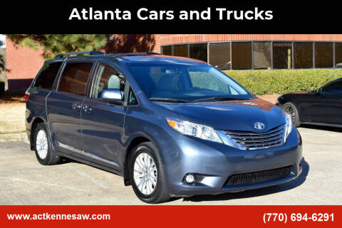 2017 Toyota Sienna for sale at Atlanta Cars and Trucks in Kennesaw GA