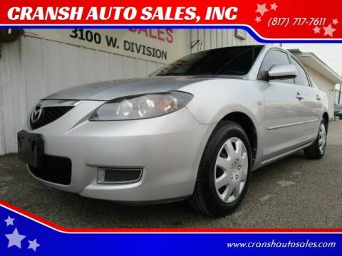 2009 Mazda MAZDA3 for sale at CRANSH AUTO SALES, INC in Arlington TX