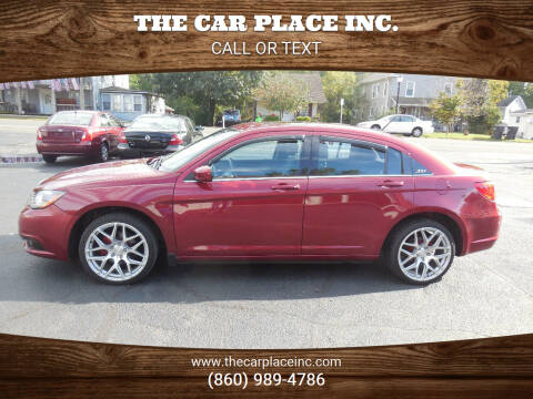 2013 Chrysler 200 for sale at THE CAR PLACE INC. in Somersville CT