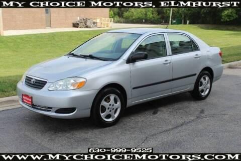 2008 Toyota Corolla for sale at My Choice Motors Elmhurst in Elmhurst IL
