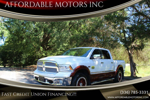 2016 RAM Ram Pickup 1500 for sale at AFFORDABLE MOTORS INC in Winston Salem NC