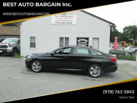 2020 Honda Accord for sale at BEST AUTO BARGAIN inc. in Lowell MA