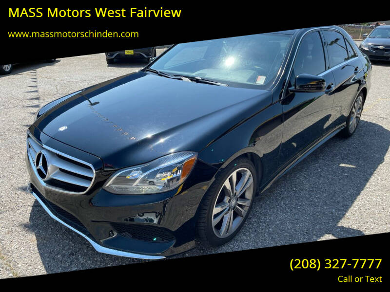 2014 Mercedes-Benz E-Class for sale at MASS Motors West Fairview in Boise ID