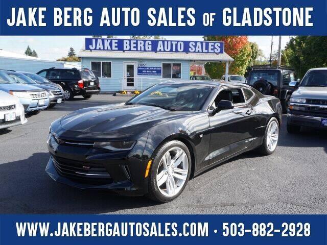 2016 Chevrolet Camaro for sale at Jake Berg Auto Sales in Gladstone OR