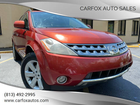 2007 Nissan Murano for sale at Carfox Auto Sales in Tampa FL
