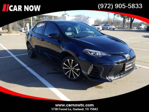 2018 Toyota Corolla for sale at Car Now Dallas in Dallas TX