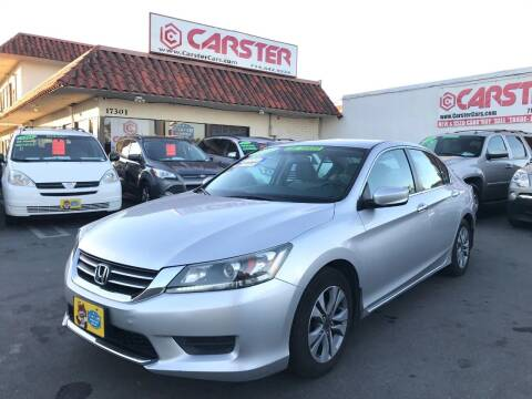 2013 Honda Accord for sale at CARSTER in Huntington Beach CA