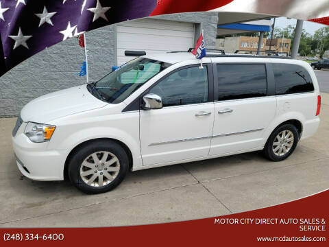 2012 Chrysler Town and Country for sale at Motor City Direct Auto Sales & Service in Pontiac MI
