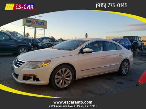 2012 Volkswagen CC for sale at Escar Auto in El Paso TX