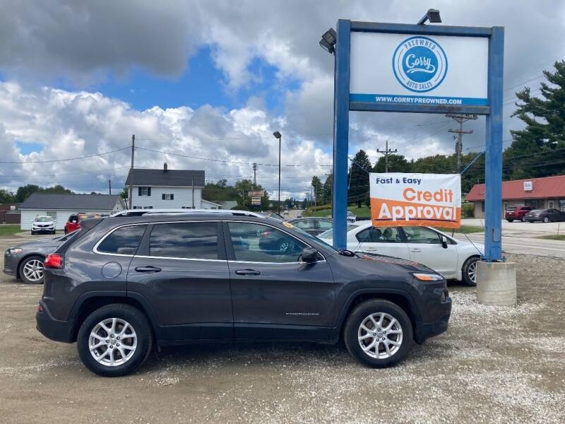 2017 Jeep Cherokee for sale at Corry Pre Owned Auto Sales in Corry PA