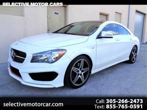2016 Mercedes-Benz CLA for sale at Selective Motor Cars in Miami FL