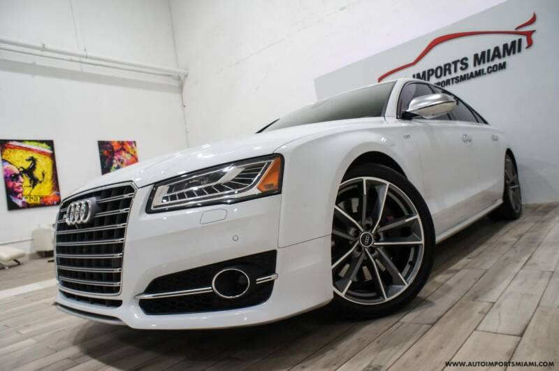 2016 Audi S8 for sale at AUTO IMPORTS MIAMI in Fort Lauderdale FL