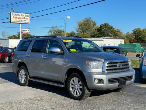 2010 Toyota Sequoia for sale at MetroWest Auto Sales in Worcester MA