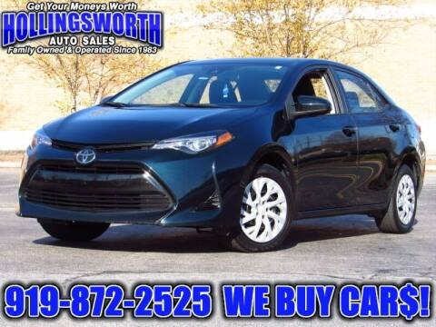 2018 Toyota Corolla for sale at Hollingsworth Auto Sales in Raleigh NC