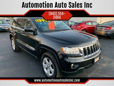 2013 Jeep Grand Cherokee for sale at Automotion Auto Sales Inc in Kingston NY