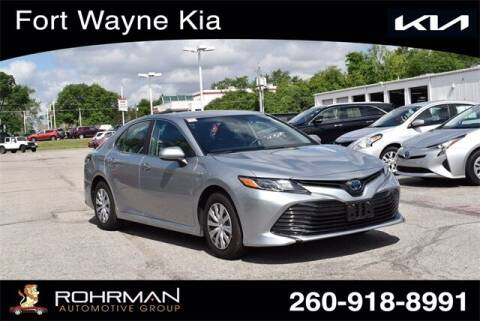 2020 Toyota Camry Hybrid for sale at BOB ROHRMAN FORT WAYNE TOYOTA in Fort Wayne IN