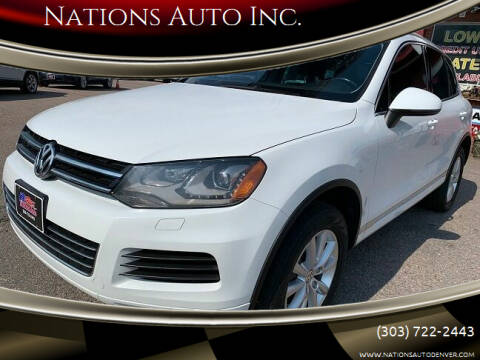 2014 Volkswagen Touareg for sale at Nations Auto Inc. in Denver CO