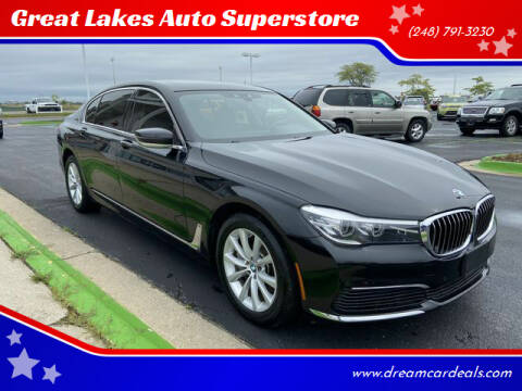 2019 BMW 7 Series for sale at Great Lakes Auto Superstore in Waterford Township MI