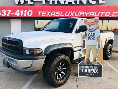 2001 Dodge Ram Pickup 1500 for sale at Texas Luxury Auto in Cedar Hill TX