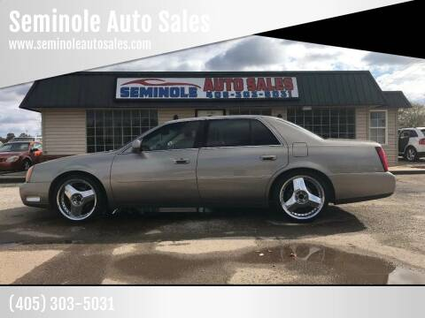2003 Cadillac DeVille for sale at Seminole Auto Sales in Seminole OK