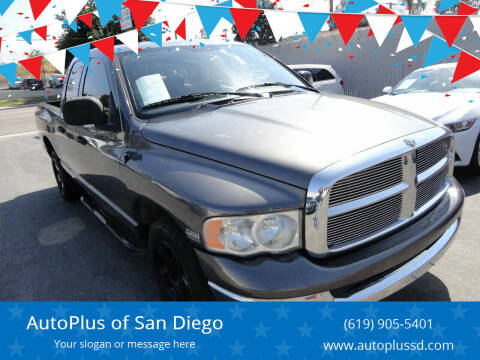 2004 Dodge Ram Pickup 1500 for sale at AutoPlus of San Diego in Spring Valley CA
