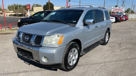 2004 Nissan Armada for sale at BARRIO MOTORS in El Paso TX