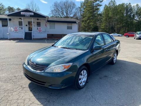 2002 Toyota Camry for sale at CVC AUTO SALES in Durham NC