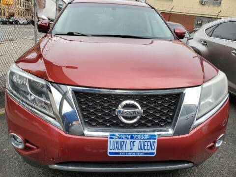 2014 Nissan Pathfinder for sale at LUXURY OF QUEENS,INC in Long Island City NY