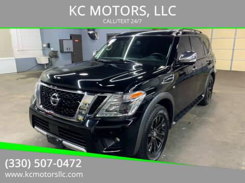 2017 Nissan Armada for sale at KC MOTORS, LLC in Boardman OH