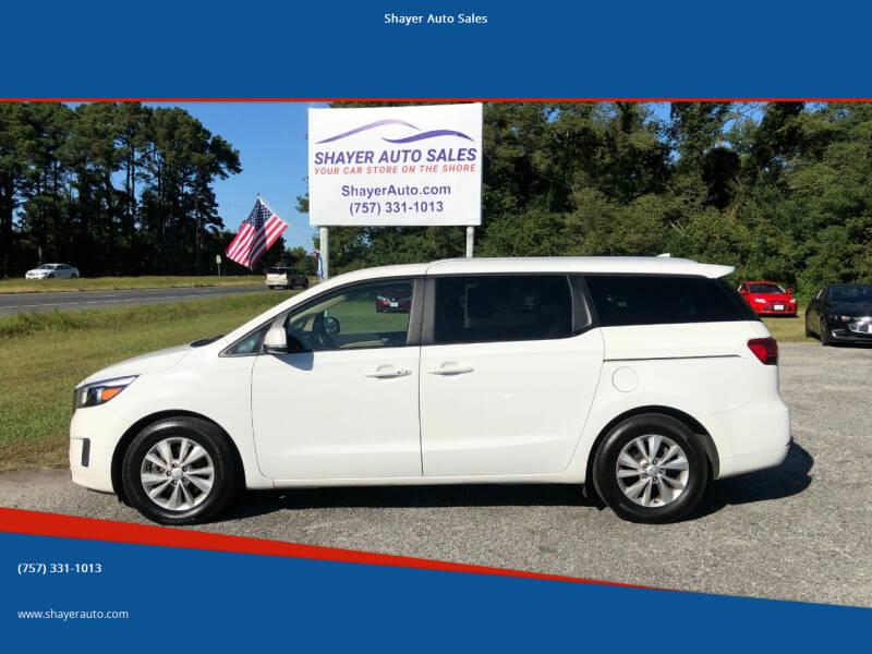 2017 Kia Sedona for sale at Shayer Auto Sales in Cape Charles VA