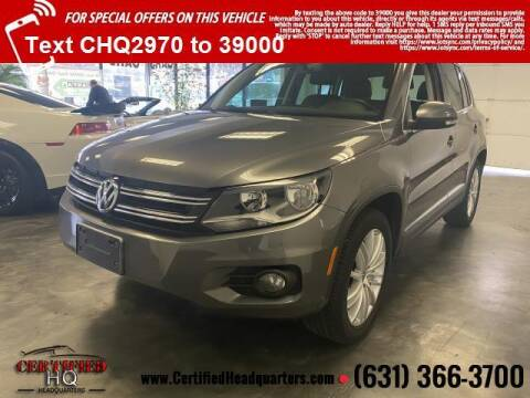 2012 Volkswagen Tiguan for sale at CERTIFIED HEADQUARTERS in St James NY