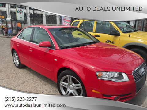 2007 Audi A4 for sale at AUTO DEALS UNLIMITED in Philadelphia PA